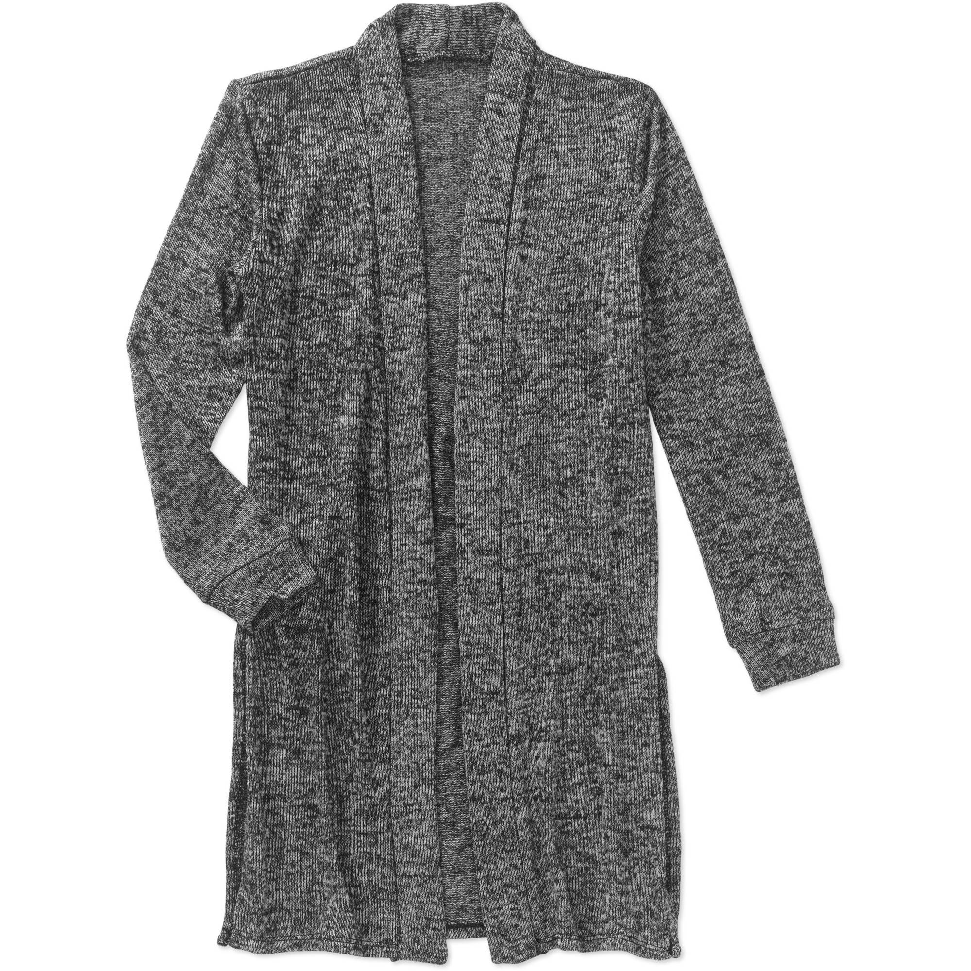 Girls Hi Lo Marled Cardigan with Side Slits