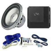"VM Audio ECD1200.1 1200W Class D Ampifier + VM Audio EXW12 12"" Sub + Wiring"
