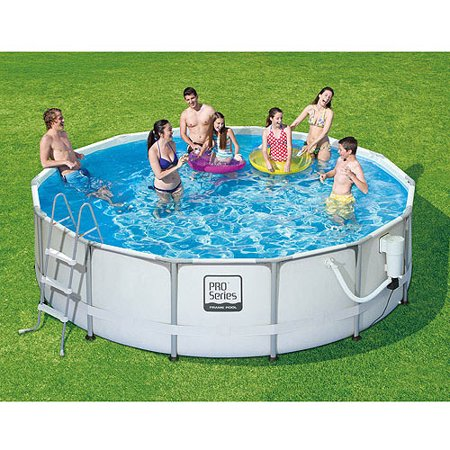 proseries 14 x 42 metal frame swimming pool with deluxe kit