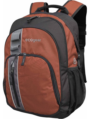 Ecogear Palila Backpack with Padded Laptop Sleeve, Red by EcoGear