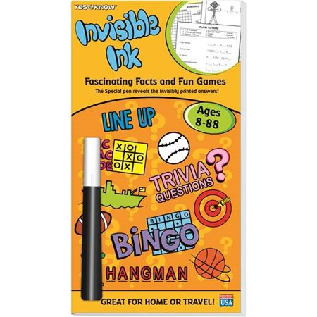 Invisible Ink Books (Yes & Know Invisible Ink Trivia & Game Book Ages)