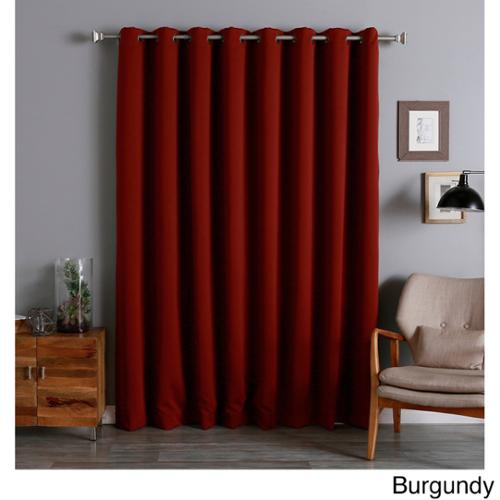 Aurora Home Extra Wide Thermal 96-inch Blackout Curtain Panel Burgundy
