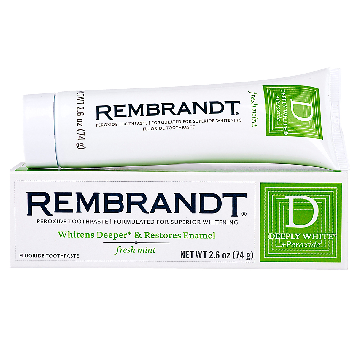 Rembrandt Deeply White + Peroxide Whitening Toothpaste 2.6 oz (pack of 6)