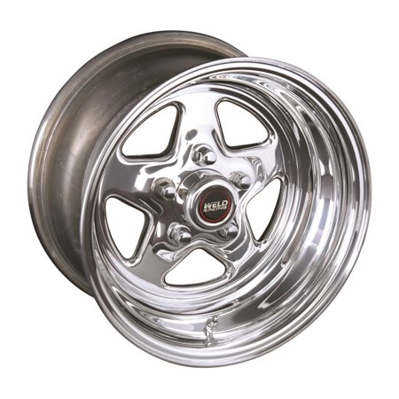 Weld Racing Pro Star (Series 96) Polished Aluminum - 15 X 10 Inch (Pro Racing Series)