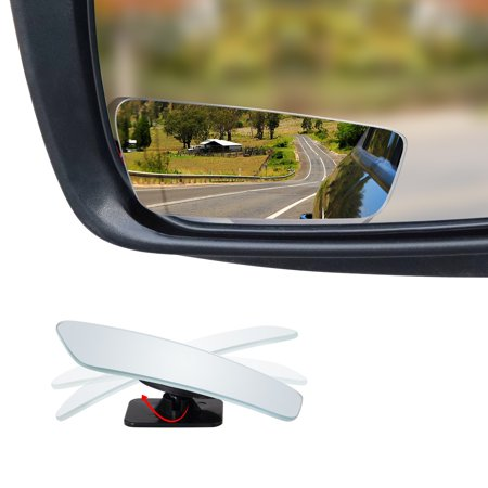 "Frameless Blind Spot Mirror - Rectangular 3.5"" Convex Glass Mirror - Pack of 2"