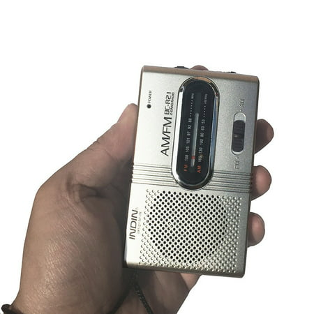 BC-R21 Mini Radio Portable AM FM Telescopic Antenna Pocket Radio World Receiver Speaker Battery Powered (Hi Tec Crystal Am Fm Receivers)