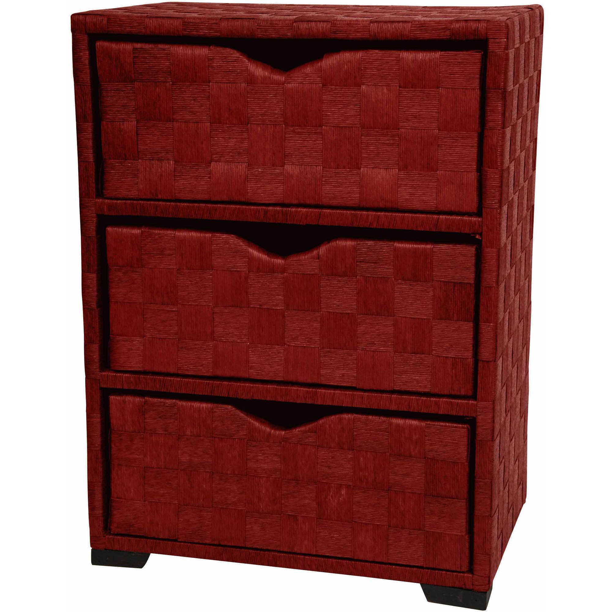 Natural Fiber Chest of Drawers, 3 Drawer