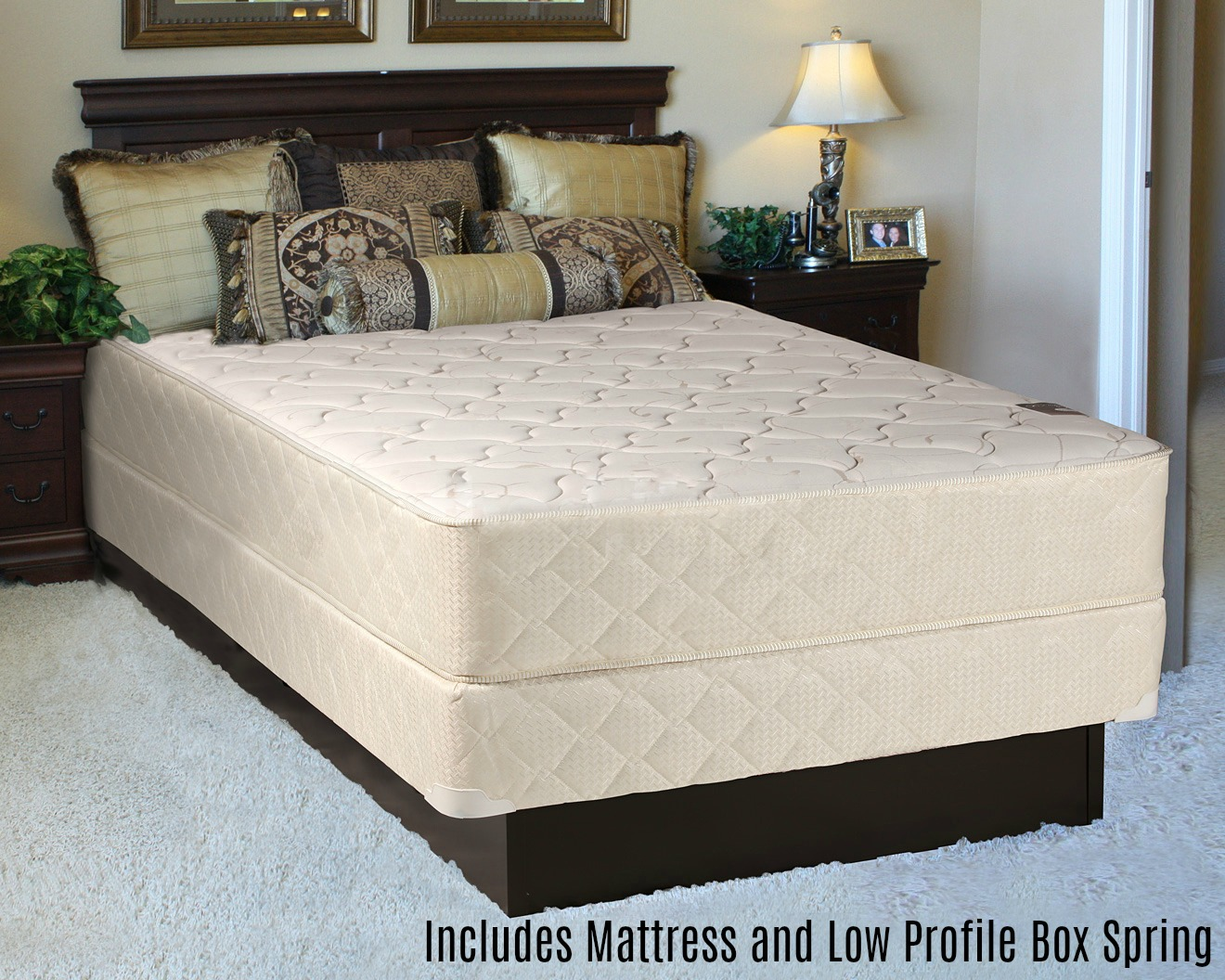 "Spring Solution Fully Assembled Orthopedic Back Support Long Lasting 10"" Mattress and 5"" Box Spring... by Comfort Bedding"