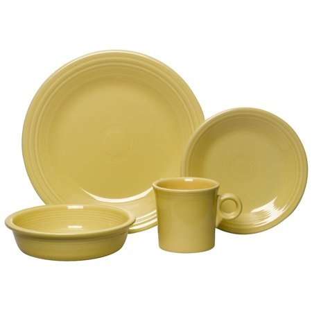 4-Piece Dinnerware Place Setting, Turquoise, Made in the USA Ship from US..., By Fiesta ()