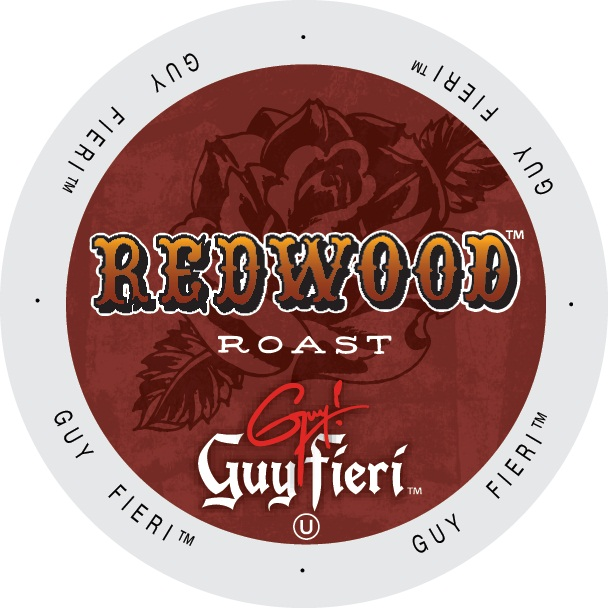 Guy Fieri Coffee Redwood Roast, Single Serve Cup Portion Pack for Keurig K-Cup Brewers, 24 Count