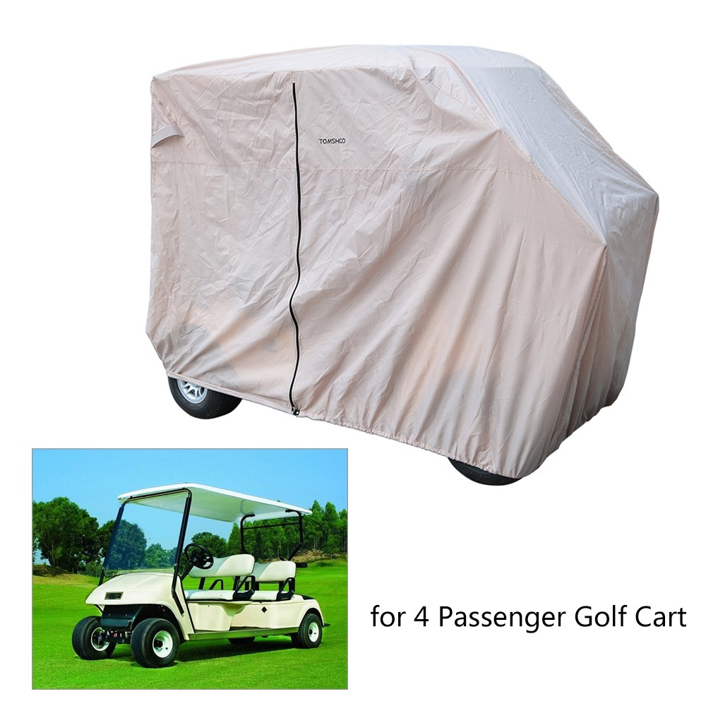 TOMSHOO 2 4 Passenger Golf Cart Cover Golf Car Roof Enclosure by