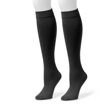 MUK LUKS Women's Fleece Lined 2-Pair Pack Knee High - Neon Knee High Socks