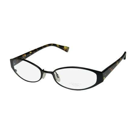 New Oliver Peoples Treasure Womens/Ladies Designer Full-Rim Titanium Black / Tortoise Durable Adult Size Frame Demo Lenses 52-17-135 Eyeglasses/Eyeglass (Oliver Peoples Titanium Frames)