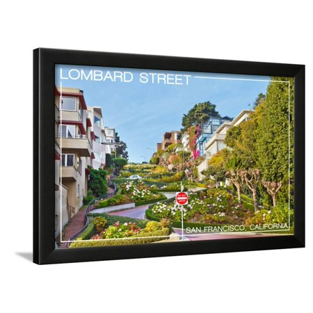 San Francisco, California - Lombard Street Framed Print Wall Art By Lantern