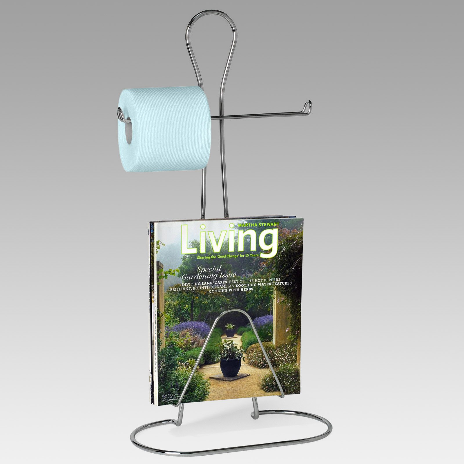 Bath Man Toilet Paper Holder with Magazine Rack