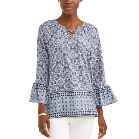 Women's Long Sleeve Peasant Top for $<!---->