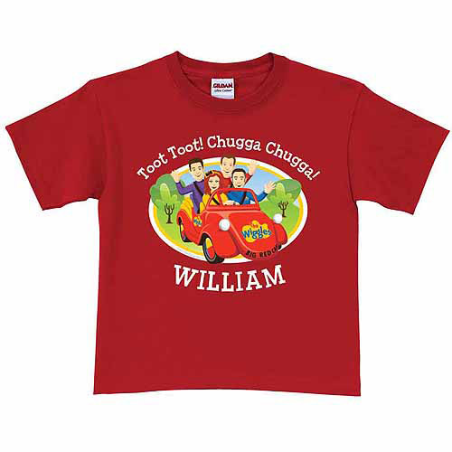 Personalized The Wiggles Big Red Car Toddler Boy T-Shirt, Red