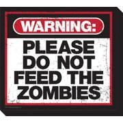 Zombie Warning Sign Funky Chunky Magnet