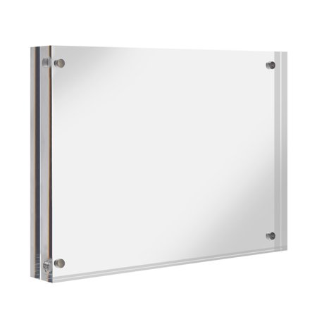 TKOOFN Double-faced Crystal Photo Frame Acrylic Magnet Clear Picture Frame Sign Holder