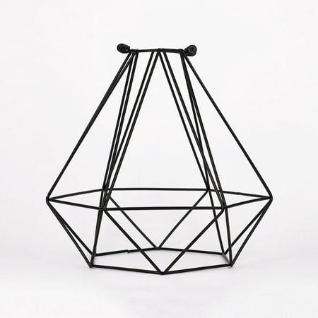 Fantado Geometric Diamond Vintage Edison Light Bulb Cage for Pendant Lights by PaperLanternStore (Cage Only) ()