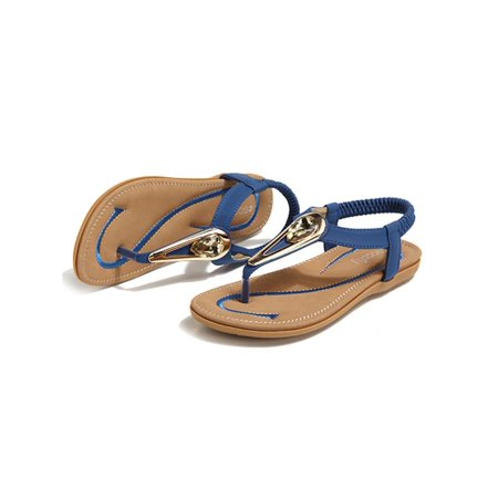20230f43e473 Socofy Female Casual Shoes PU Flat Sandals Soft Woman Shoes For Daily  Outdoor Holiday Beach - Walmart.com