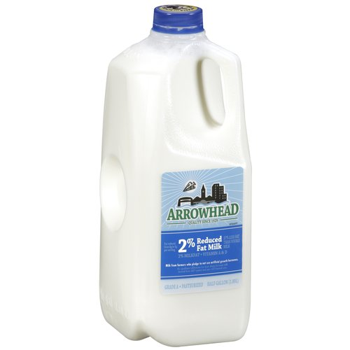 Arrowhead 2% Reduced Fat Milk, 0.5 gal