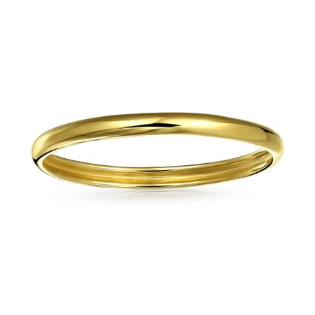 14K Yellow Gold Thin Chic Stackable Mid Finger Ring Band Polished finish 1mm