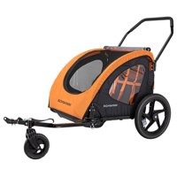 Schwinn Springbrook Two-Passenger Trailer/Stroller, Orange / Black