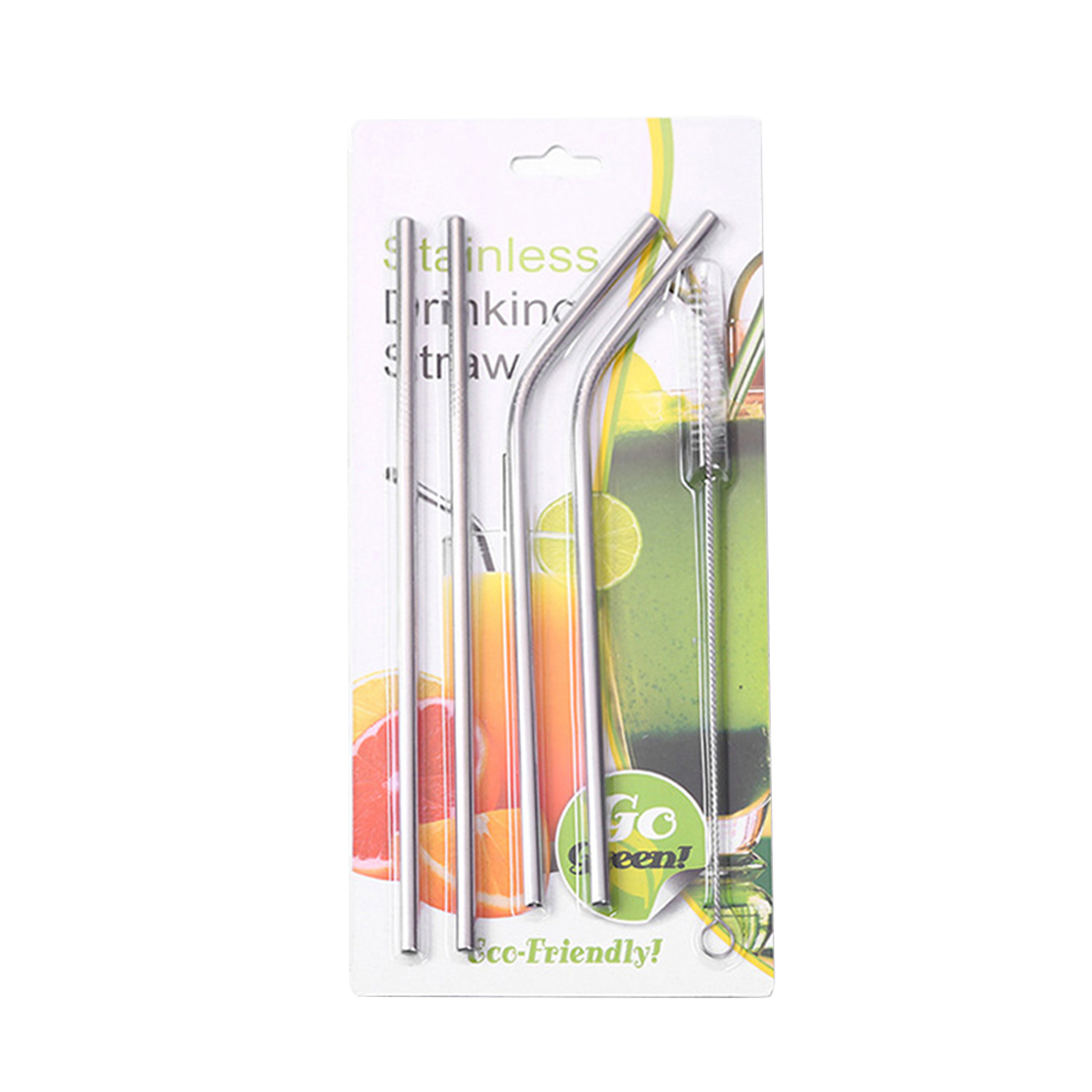 4 Pcs Reusable Drinking Straw Set 304 Stainless Steel Metal Straw Straight Bent with Cleaner Brush - Walmart.com - Walmart.com 4 Pcs Reusable Drinking Straw Set 304 Stainless Steel Metal Straw Straight Bent with Cleaner Brush - Walmart.com - 웹