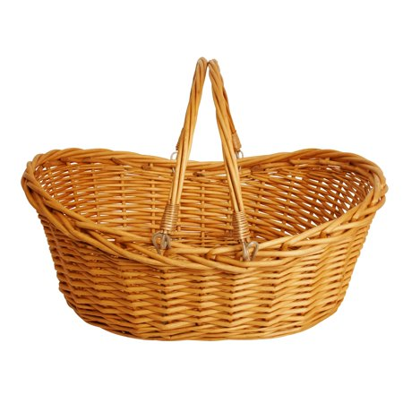 Brown Oval Basket - Wald Import Willow Basket