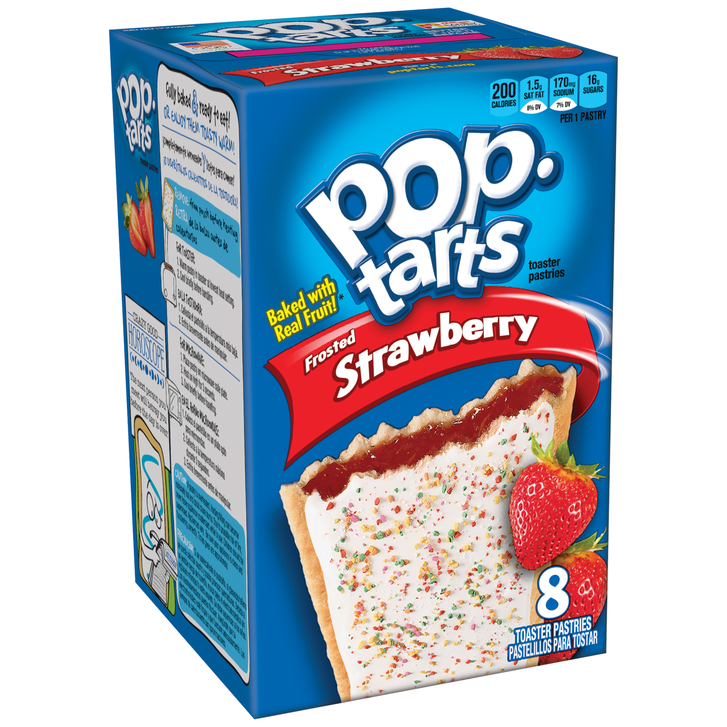 Kellogg's Pop-Tarts Toaster Pastries Frosted Strawberry 8 Ct