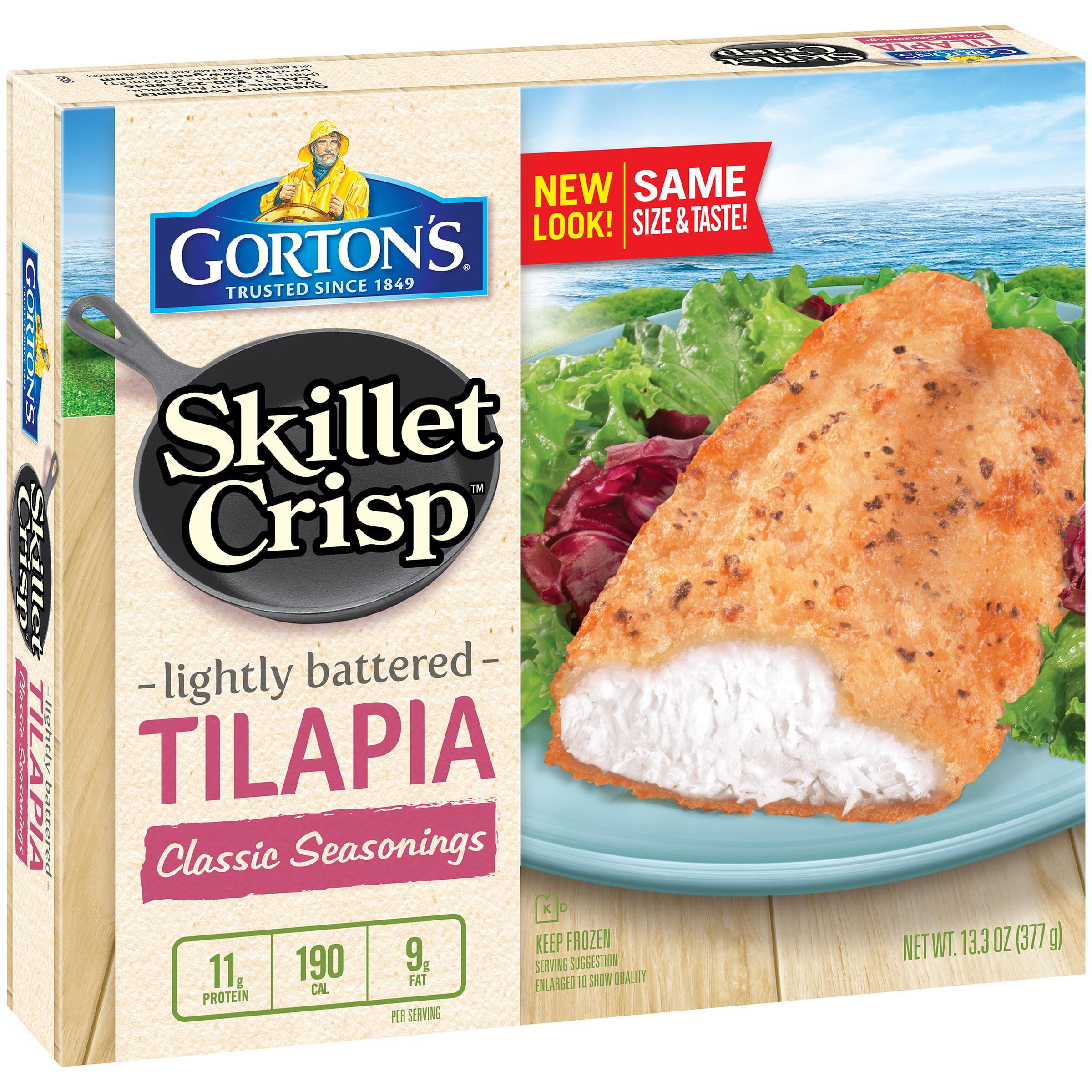Gorton's�� Skillet Crisp Classic Seasonings Tilapia 13.3 oz. Box