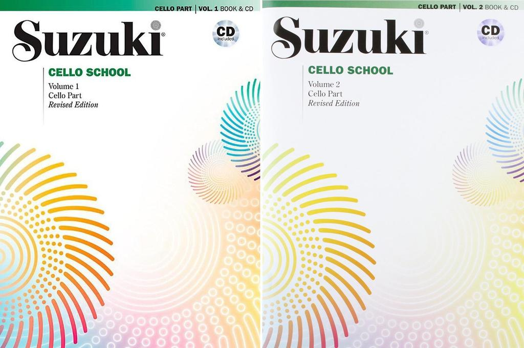 Suzuki Cello School Cello Part & CD, Volume 1 & 2 (Revised) by Alfred Publishing