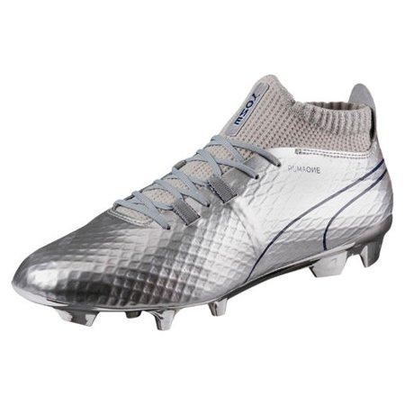 Men's Puma Silver/Blue Soccer One Chrome Firm Ground