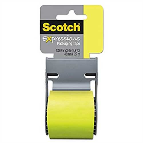 """Scotch Expressions Packaging Tape, 1.88"""" x 500"""", Green"""