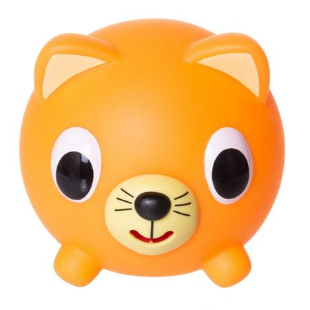 Jabber Ball by Sankyo Toys - Neon Orange Cat - Jolly Jabber
