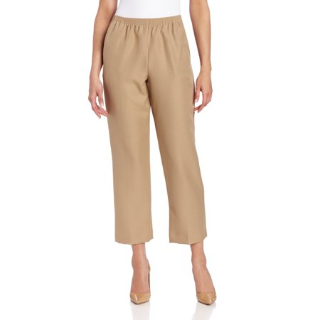 Tan Womens Cropped Pull On Dress Pants 18