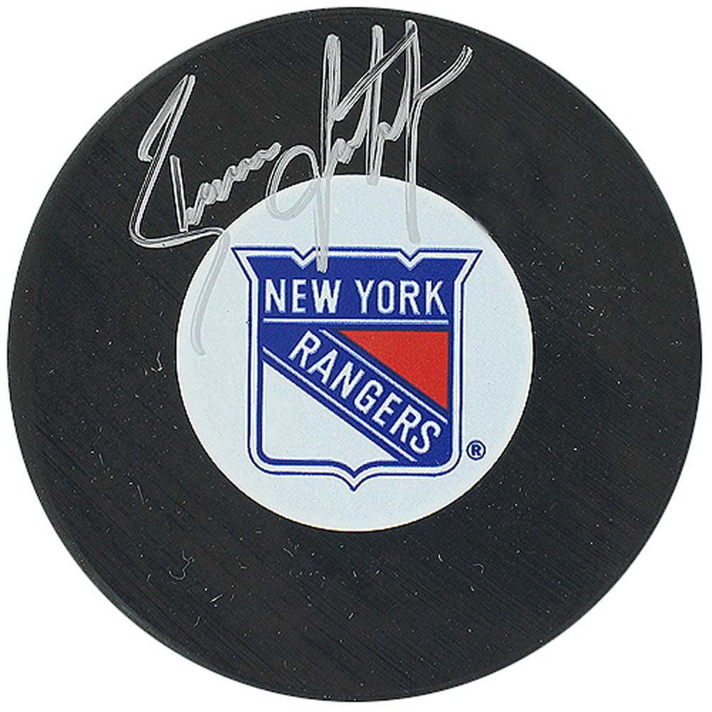 Brian Leetch Rangers Autograph Puck