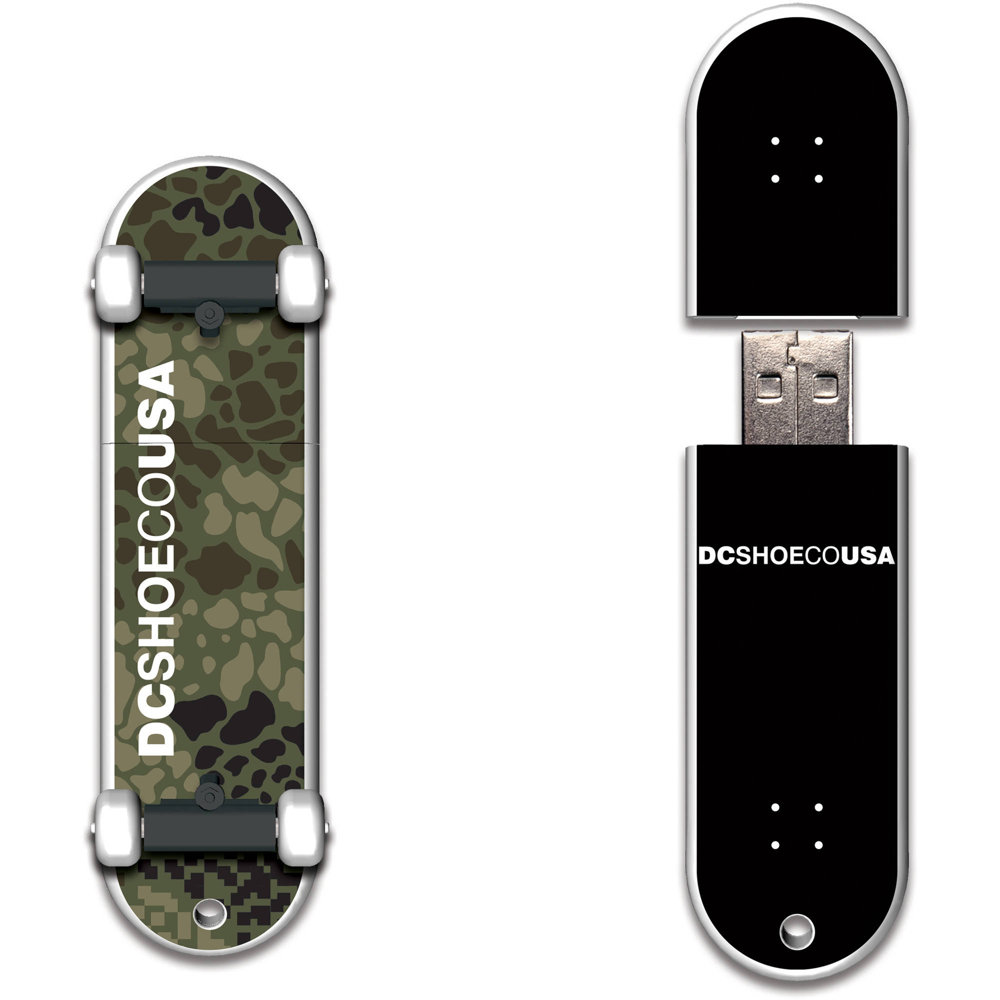 DC Shoes 32GB SkateDrive Croc Camo USB Flash Drive