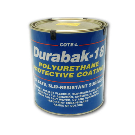 Desert Tan Paint (Durabak 18 (For Outdoor Use) - TEXTURED version - Non Slip Coating, Bedliner, Deck Paint for ALL Boats - Many colors to choose from! - Black GALLON)