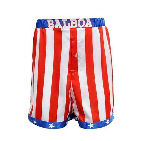Rocky Balboa American Flag Shorts USA IV Costume Boxing Movie Boxer Trunks - Boxing Costume