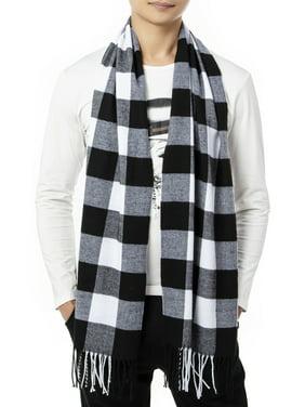 LELINTA Mens Classic Cashmere Shawl Winter Warm Long Fringe Plaid/ Striped Tassel Scarf