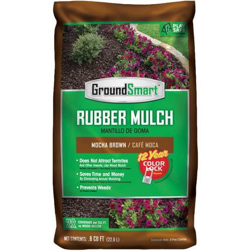 GroundSmart Rubber Mulch (98 bags/0.08 cu ft), 78.4 cu ft