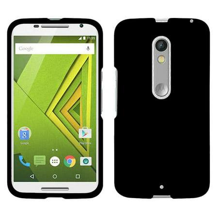 NEW BLACK RUBBERIZED PROTEX HARD SHELL CASE COVER FOR VERIZON MOTOROLA DROID MAXX 2 PHONE (XT1565 XT1561 XT1562 XT1563) (aka Moto X (Cell Phone Cases For Motorola Droid Maxx)