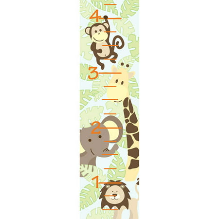 Wallpops Baby Jungle Growth Chart Decal Walmart