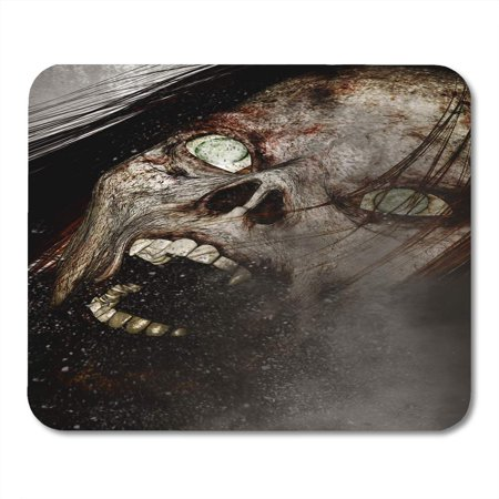 LADDKE Halloween 3D of Scary Ghost Woman Horror Mixed Media Movie 3Dillustration Mousepad Mouse Pad Mouse Mat 9x10 inch