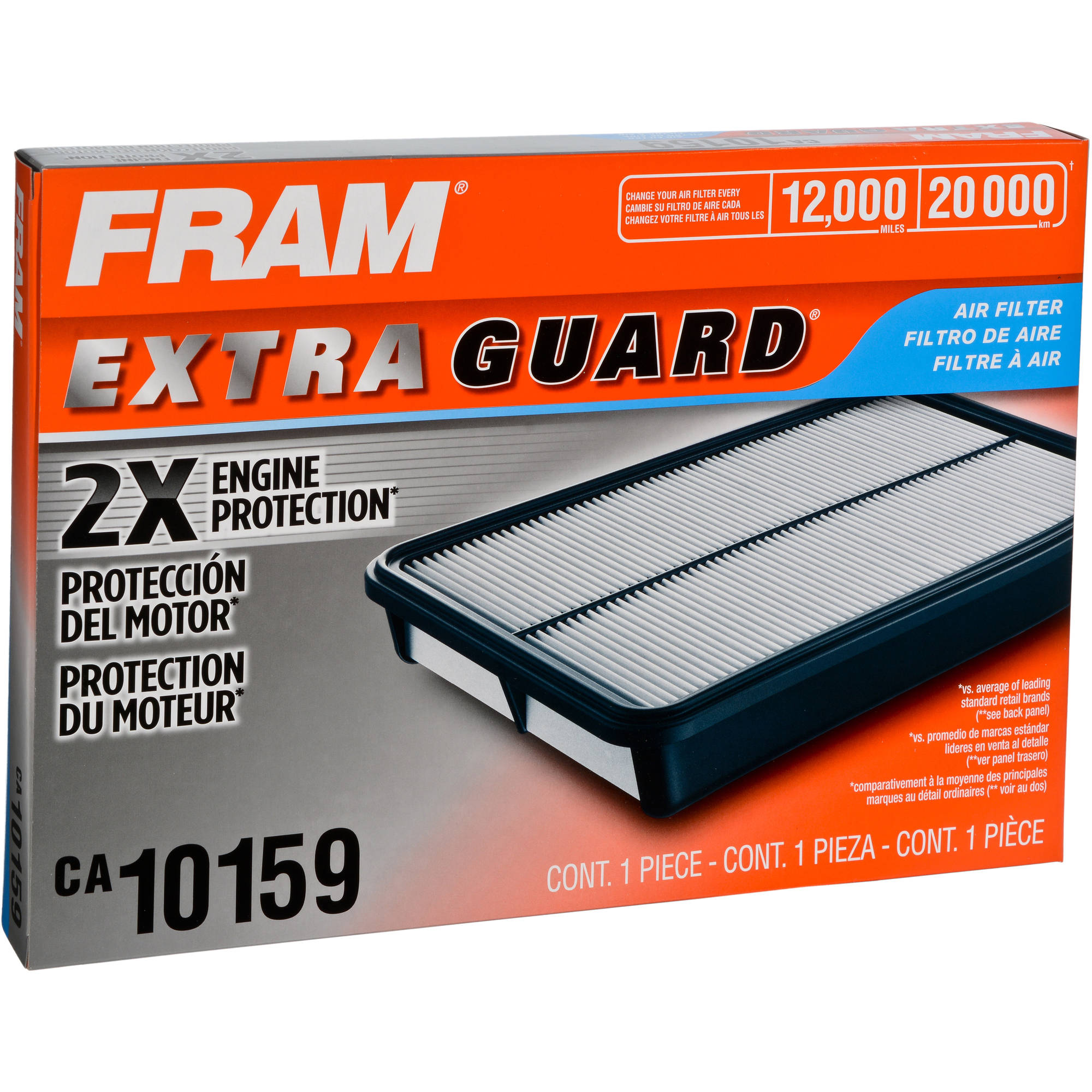 FRAM Extra Guard Air Filter, CA10159 by FRAM