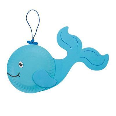 IN-48/6219 Paper Plate Whale Craft Kit Makes 12 By Fun Express