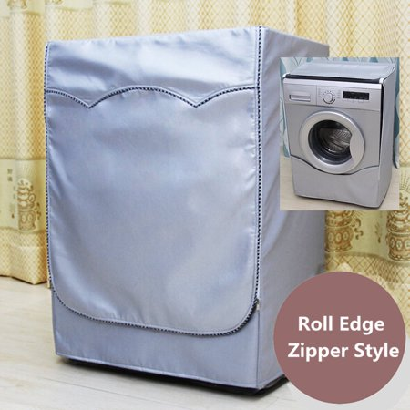 Meigar washing machine waterproof cover for front load washer/dryer protector with zipper silver (Anti Vibration Pads For Front Load Washer)