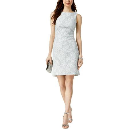 Donna Ricco Womens Metallic Textured Cocktail Dress